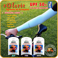 1x Pair UPF50+ Sun Protective Arm Sleeves Super Cooling for Golf Sports Outdoor