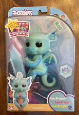 FINGERLINGS Glitter BABY Dragon NOA Teal 40 Sounds Wowwee Toy NEW