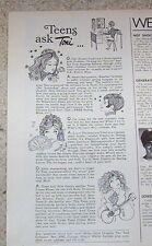 1969 print ad -Toni hair care Teens Advance Look perm Dippity-Do Tame Vintage AD