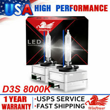 D3R D3S 8000K HID Xenon Bulbs Headlight Replace for Philips OEM Factory Lamps 2x