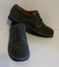 Florsheim Kids Blue Gray Suede Tie Shoes Casual Leather Boys Size 6