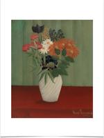 HENRI ROUSSEAU BOUQUET OF FLOWERS LIMITED EDITION BIG BORDERS ART PRINT 18X24