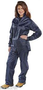 Ladies Waterproof Suit Jacket & Trousers Rain Set Womens Girls Womans Female