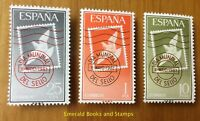 EBS Spain España 1961 World Stamp Day - Día Mundial del Sello 1243-1245 MNH**