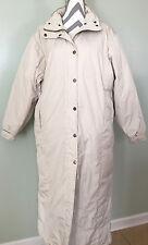 WOOLRICH Womens Long Duck Down Puffer Winter Coat Parka White Coat Jacket Size L