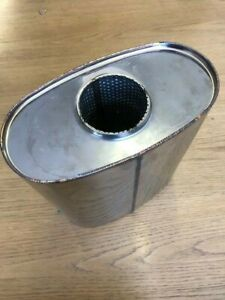 10 x 5 inch oval universal silencer 16 inch long 2.5 inch inlet