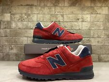 New Balance 574  Made In USA Connoisseur Red Navy US574XAD Men's Size 11