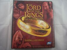Lord of the Rings The Two Towers Trading Card Binder and Base set
