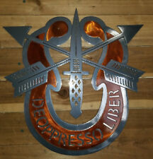 "Special Forces Crest -1/8"" Aluminum cnc metal art HAND MADE IN WACO TX"