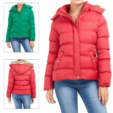 Brave Soul Womens Hopp Padded Jacket Ladies Removable Hooded Quilted Puffer Coat