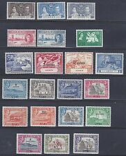 ADEN 1946 51 SG 36 46 NEW CURRENCY TO 10 SHILLINGS PLUS 28 29
