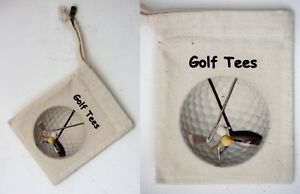 Cotton Tee Bag Golf Motif Add your own Golf Tees or Golf Balls as a special Gift