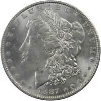 1887 Morgan Dollar Choice About Uncirculated 90% Silver $1 US Coin Collectible