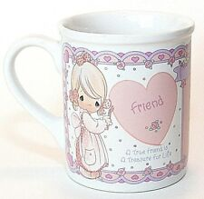 Precious Moments Cup Mug Friend Pink White Heart 12 Oz Ceramic Nos
