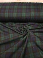 6 Designs Fashion Tartan Print Check Poly-viscose Fabric 60/' Wide,High Quality