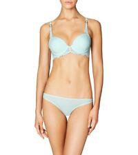 NWT Stella McCartney SMOOTH & LACE Bra / 2 Bikinis, 32F / S Cambridge Blue