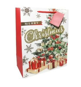 3 Gift Bags Extra Large Portrait WISH FOR HAPPY CHRISTMAS 305 x 379 x 202mm