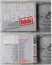 KONSTANTIN WECKER Kokain .. German 1995 BMG Maxi CD TOP