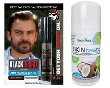 Blackbeard Beard Mens Temporary Colour DARK BROWN + Vegan Moisturising Cream