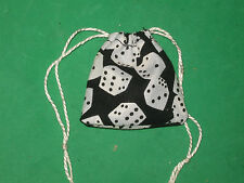 "TINY DICE BAG- 2 1/4"" X 2 1/4""- -COTTON"