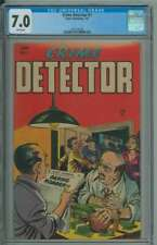 CRIME DETECTOR #1 CGC 7.0 WHITE PAGES