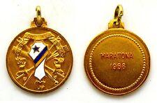 Medaglia Con Smalti Società Canottieri Esperia Torino Maratona 1968 Metallo Dora