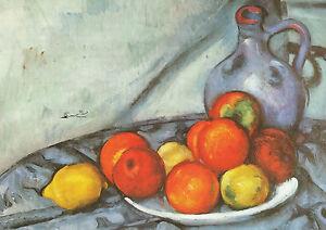 Postkarte/ Postcard: Paul Cezanne - Stillleben / Zitronen / Granatäpfel