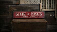 Custom Cowboy Antique Store Sign - Rustic Hand Made Distressed Wooden ENS1000769
