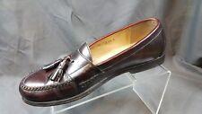 Cole Haan City Burgundy Leather Tassel Loafers Men's US 10D EU 43