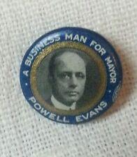 Vintage Pinback Philadelphia Political pin Powell for Mayor.Rare.