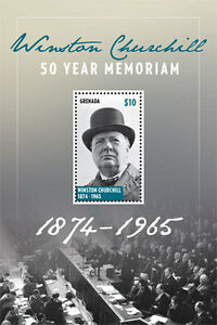 Grenada - Sir Winston Churchill - Souvenir sheet - 2015 MNH