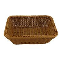 Rattan Storage Tray Round Basket Handle Hand-woven Rattan Wicker Bread Food