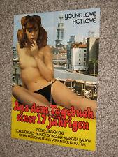 Aus dem Tagebuch einer 17 jährigen - Kinoplakat A1 -   Sonja engels sexy