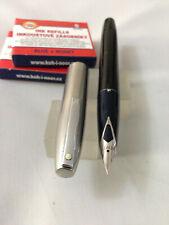 Sheaffer 440 Imperail Acero Negro FP Acero xfine + convertir +6 CA EEUU Nueva