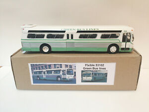 1/43 City bus Flxible 53102 Green Bus Lines handmade by Vector-Models