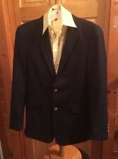 BOYS BLAZER CHAPS 10R Blue Brass Buttons Jacket Coat 2 Button 10 R jacket Dress