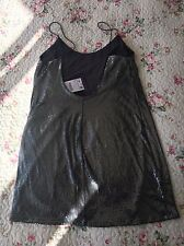 Zara Metallic Green Sequin Ladies Short Party Dress Size S