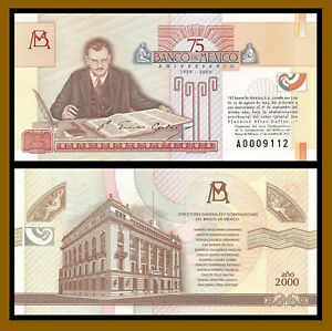 Mexico 75th Anniversary 1925-2000 Test Note Unc