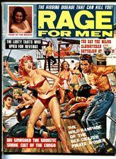 RAGE FOR MEN AUG 1963-Bill Ward-Wild women whipping men on cvr!