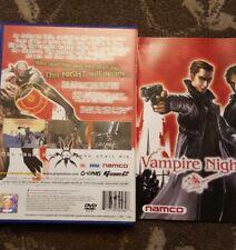 VAMPIRE NIGHT PLAYSTATION 2 PS2 RARE G CON GUN SHOOTER