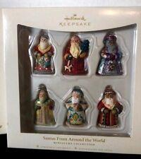 Hallmark Keepsake Miniatures 'Santas From Around the World' 2006 Set of 6 New