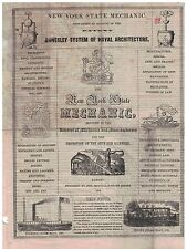1842 issue New York State Mechanic Annesley System of Naval Architecture