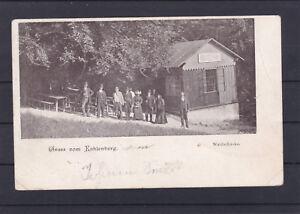 Alte Karte Wien Gruss vom Kahlenberg Waldschänke gelaufen