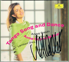 Anne-Sophie MUTTER Signiert PREVIN Tango Song and Dance FAURE BRAHMS GERSHWIN CD