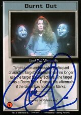 BABYLON 5 CCG Claudia Christian PSI CORPS Burnt Out AUTOGRAPHED