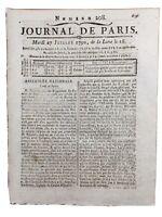 Rare Journal de la Révolution Française 1790 Journal de Paris
