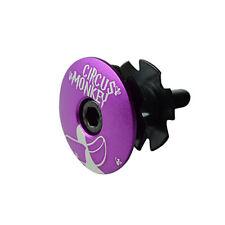 "Circus Monkey 1-1/8"" Bike Bicycle Cycling Top Cap Headset + Star Washer - Purple"