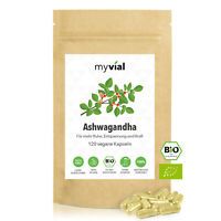 Ashwagandha Kapseln Bio 120 Stück - Vegan - 100% rein & natürlich - Ohne Zusätze