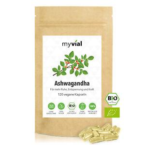 Bio Ashwagandha 120 Kapseln vegan | 40-Tage-Vorrat | 500mg pro Kapsel