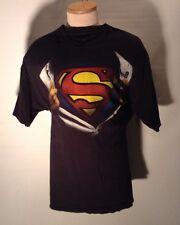 SUPERMAN CLARK KENT SHIRT RIPPED OPEN T SHIRT 2XL COTTON DC COMICS ORIGINALS
